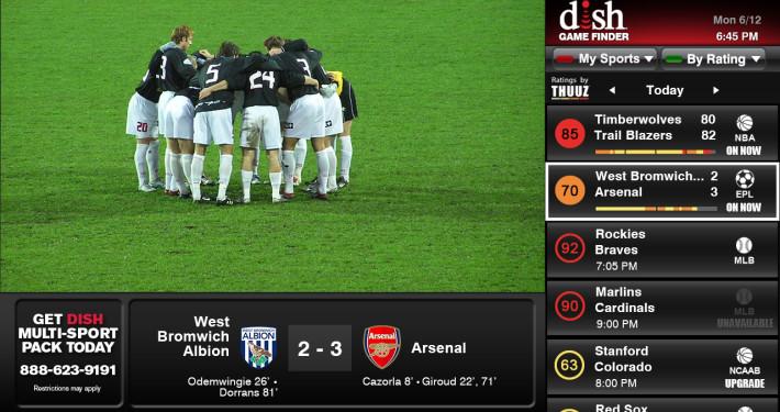 Soccer on DISH's Game Finder App