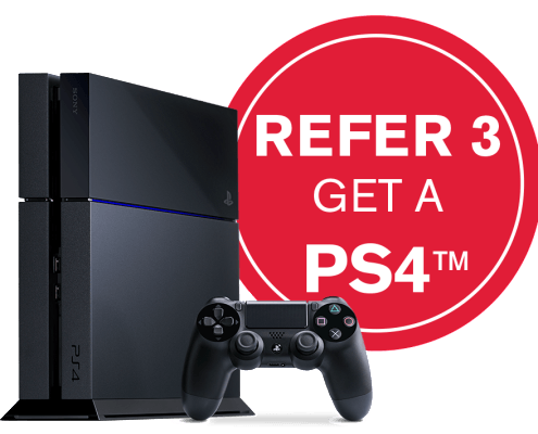 Refer Three Friends and Get a PS4 From DISH